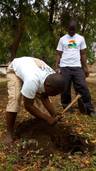 ree planting on 28th April 2018 at Kibarani School for the Deaf in Kilifi