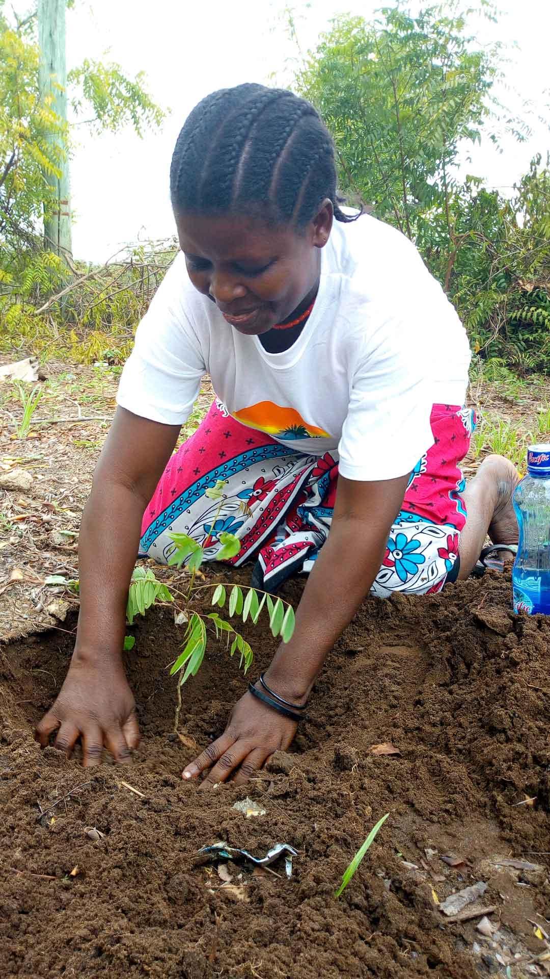 ree planting on 28th April 2018 at Kibarani School for the Deaf in Kilifi